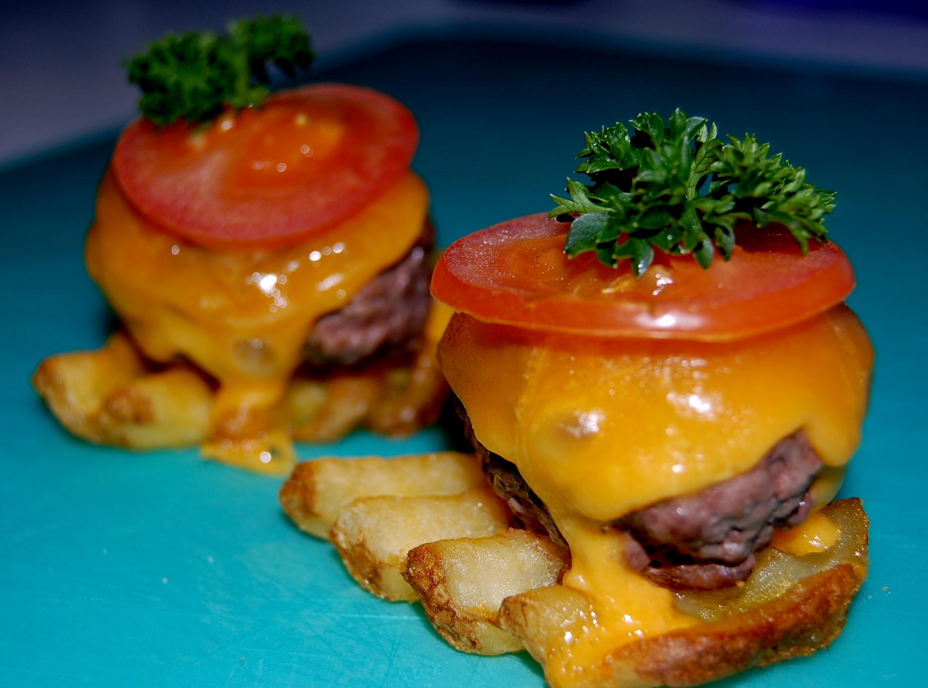 Burger Potato Bites