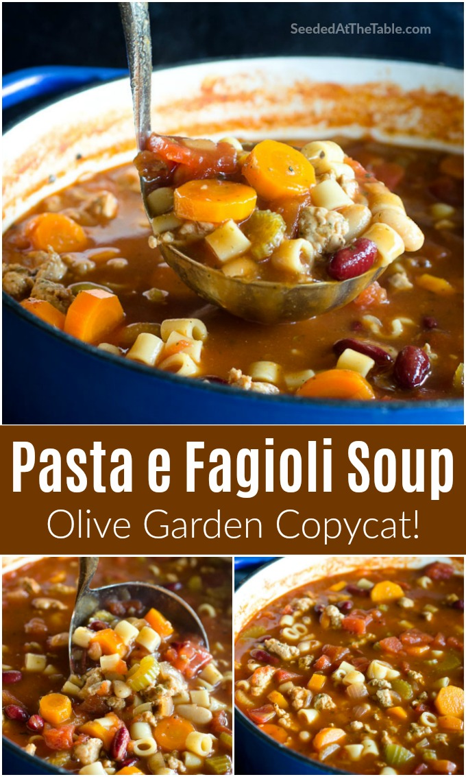 Pasta Fagioli is a hearty Italian bean and vegetable soup made popular over the years by Olive Garden. Learn to make it at home for a satisfying meal for the whole family!