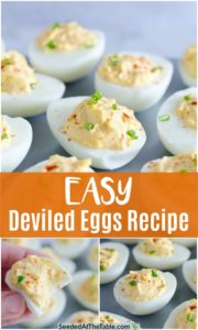 pinterest collage for deviled eggs recipe