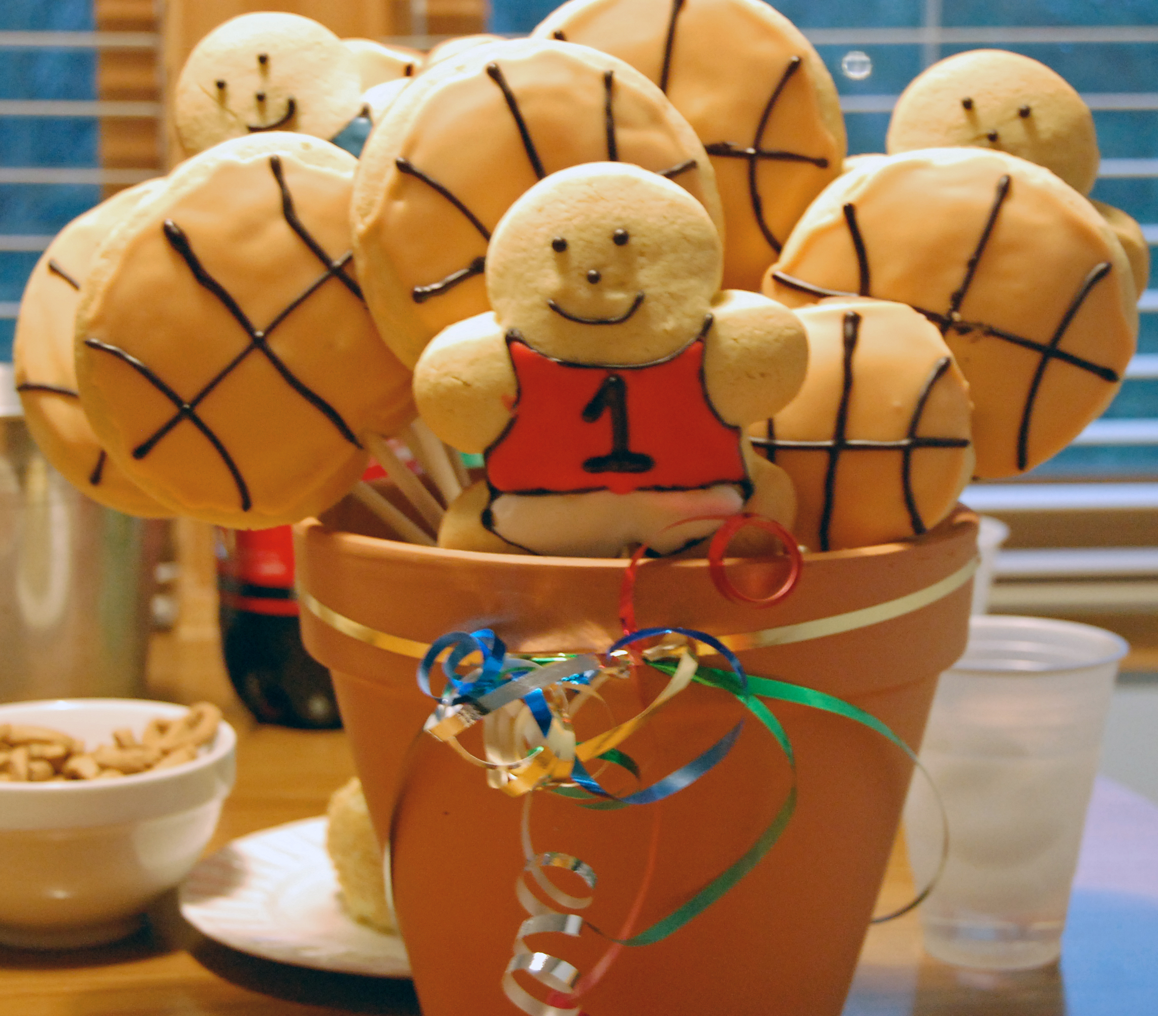 Basketball Cookie Bouquet