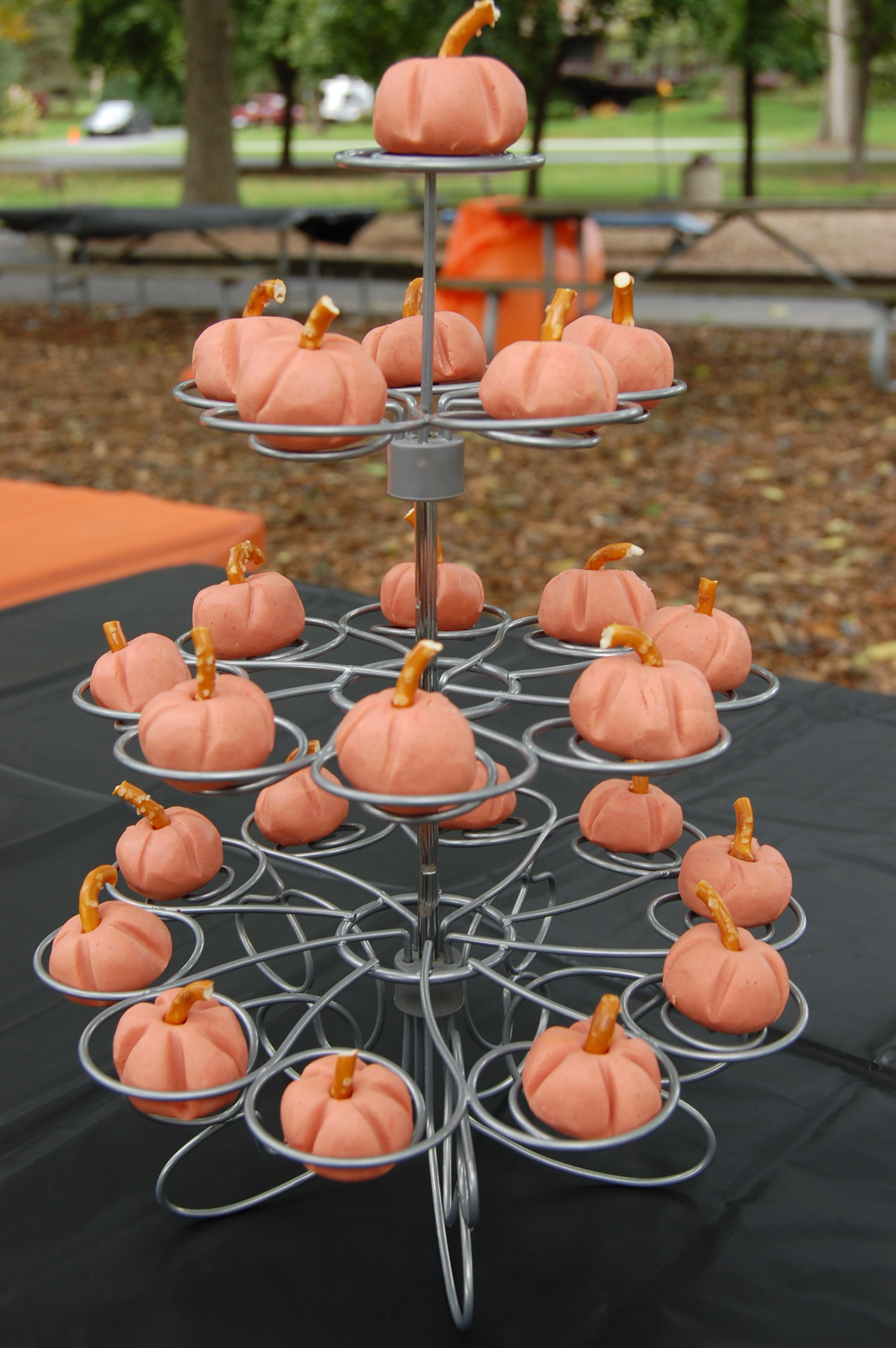 Mini Pumpkin Tower