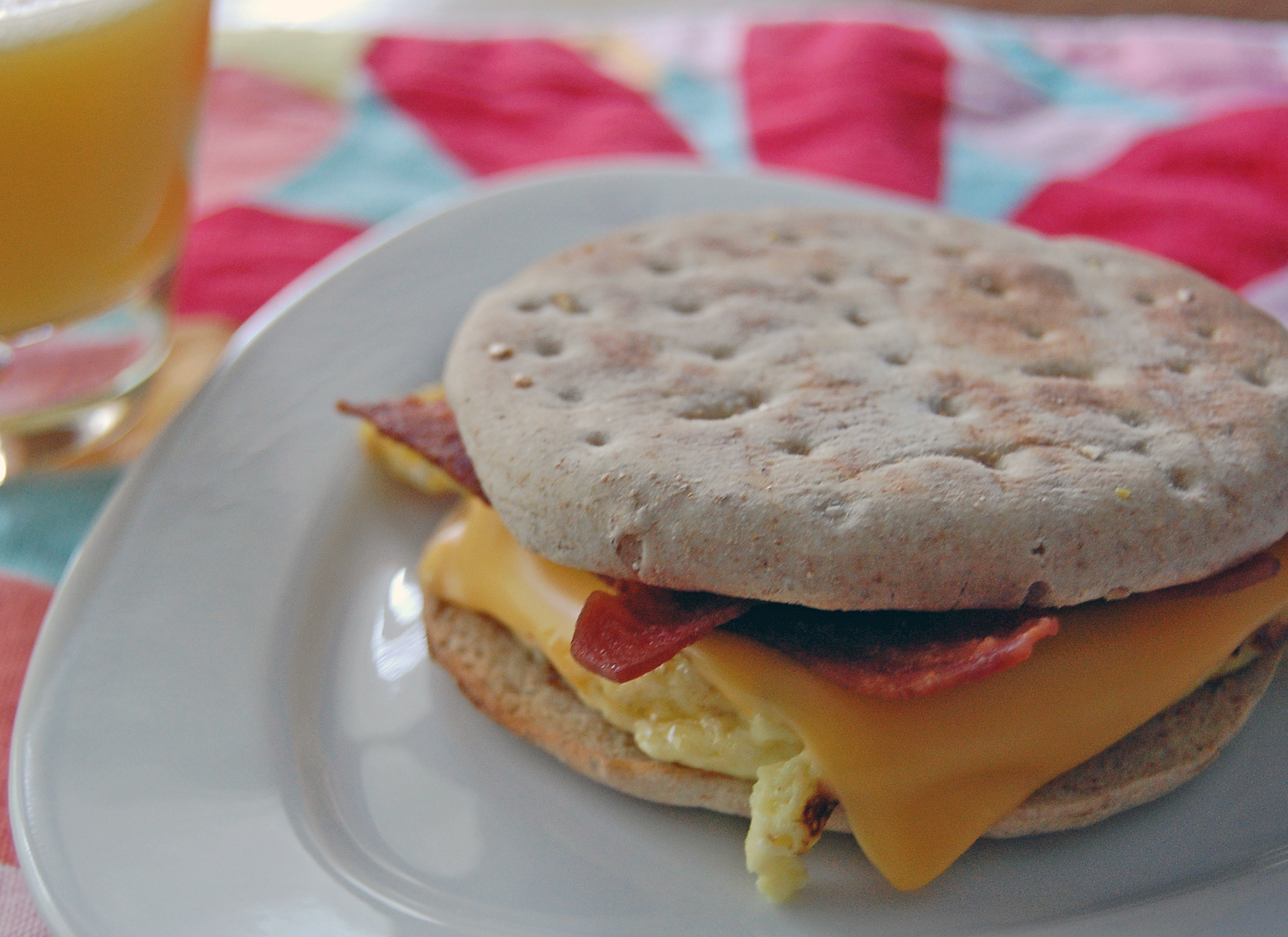 Health Egg, Cheese & Turkey Bacon Breakfast Sandwich