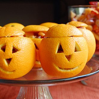 Snack-o'-Lantern Fruit Cups