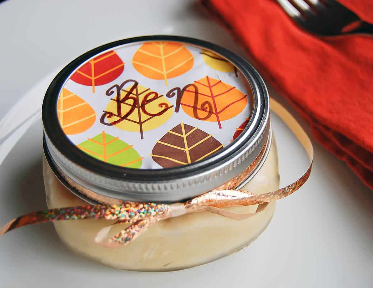 pie in a jar name placeholder