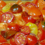 Serve this homemade Multi Colored Tomato Sauce over top pasta, mushrooms appetizer or any other Spanish or Italian dish.