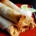 This is the BEST Baked Chicken Taquitos recipe out there! Store them in the freezer for a quick weeknight meal.