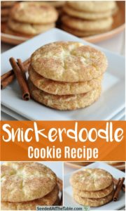 Collage of snickerdoodle cookies