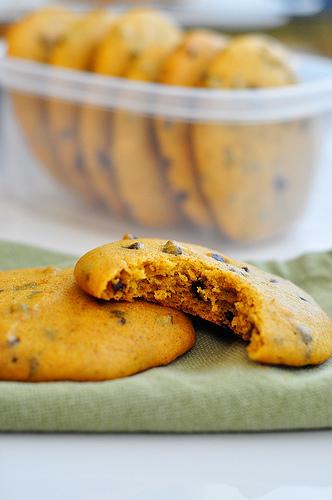 Pumpkin Chocolate Chip Muffin Tops