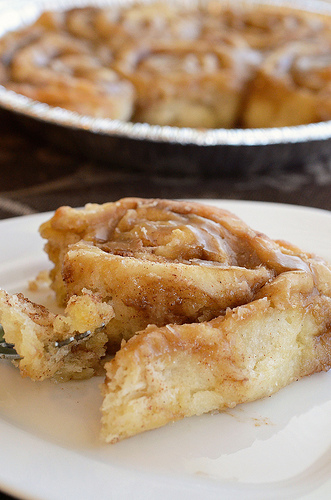 Maple-Glazed Cinnamon Rolls