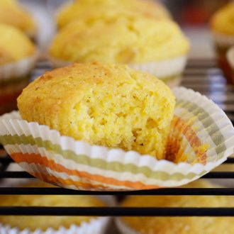 This Sweet Corn Bread Muffins recipe is a copycat of Famous Dave's corn bread muffins that we all love so much.