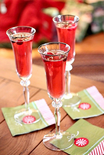 cranberry lime bellini