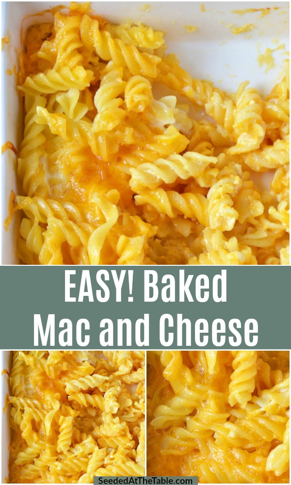 This baked mac and cheese recipe is super easy with simple ingredients! Our whole family loves this macaroni and cheese!
