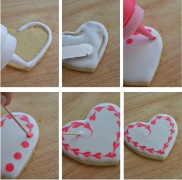 Heart Cookies Steps