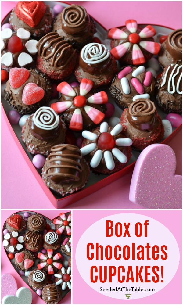 You won't believe how easy it is to decorate miniature cupcakes to look like a box of chocolates!  A fun Valentine's gift for those who prefer cupcakes over chocolates.