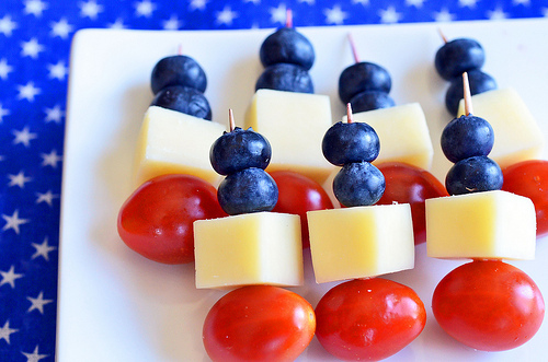 Red, White and Blue Skewers