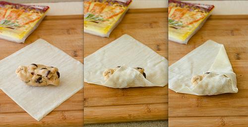 Cookie Dough Eggroll Steps123