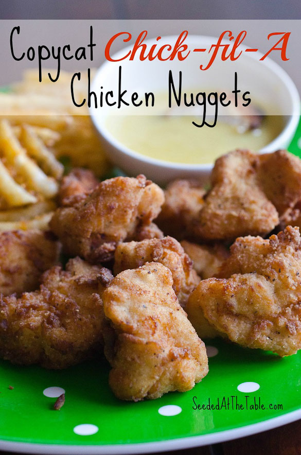 Copycat Chick-fil-A Chicken Nuggets by SeededAtTheTable.com