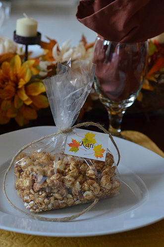 Progressive Dinner Caramel Corn Favor