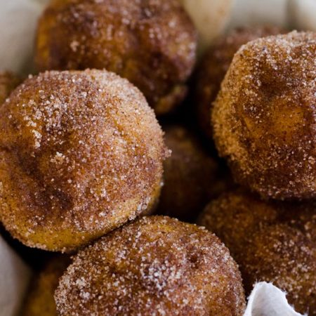 Add these Baked Pumpkin Spice Donut Holes to your weekend fall breakfast menu. Use your mini muffin pan to easily bake these in your oven and cut all the calories from frying!