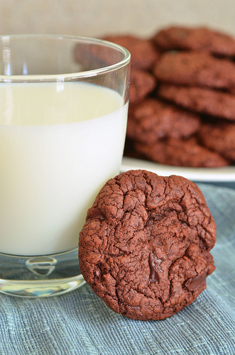 Chewy Triple Chocolate Cookies