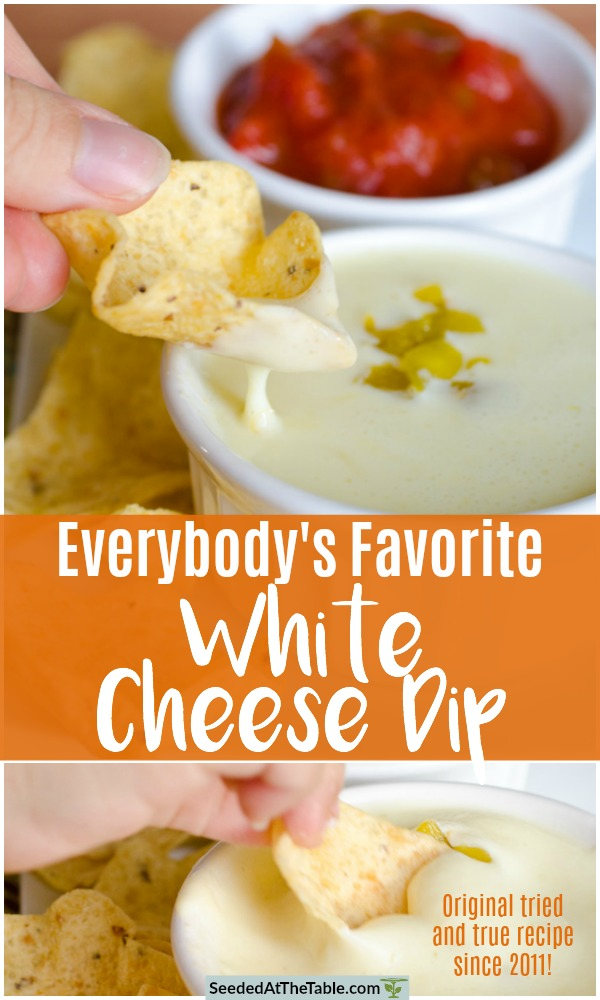This Queso Blanco is the BEST recipe for White Cheese Dip leaked from your favorite Mexican restaurant. Only 4 ingredients and 5 minutes for the EASIEST and most authentic Mexican White Cheese Dip recipe. Get your tortilla chips ready for dipping, or drizzle the cheese over your favorite Mexican dish.  Everyone LOVES this white cheese dip!