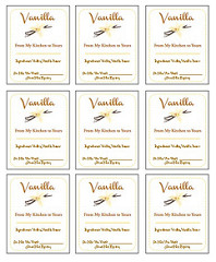 Vanilla Labels Photo