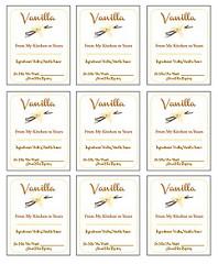 Vanilla Labels Photo