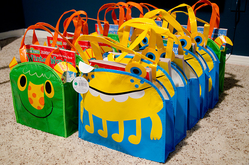 monster favor bags