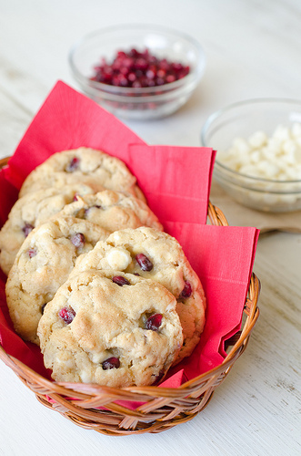 Pomegranate White Chocolate Cookies