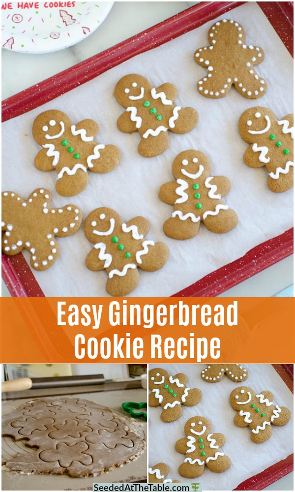 This gingerbread cookie recipe is a family tradition!  A tried and true gingerbread recipe that makes easy gingerbread cookies to cut out and decorate for tasty holiday fun!