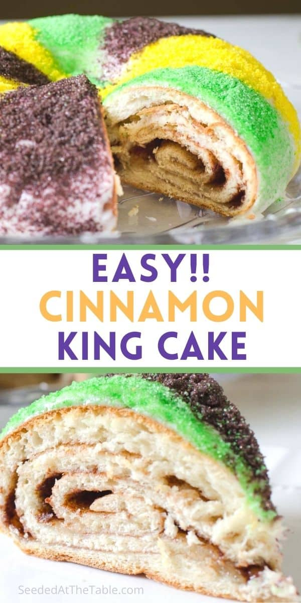 Homemade king cake is easier than you might think! With this recipe, you can celebrate Mardi Gras no matter where you live!