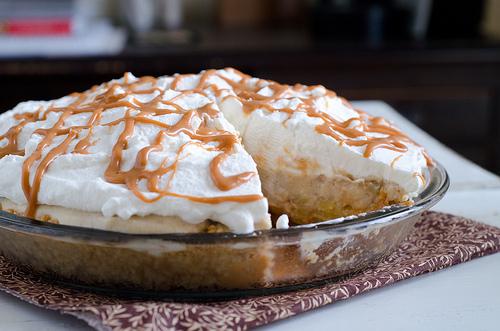 Roasted Banana Cream Pie