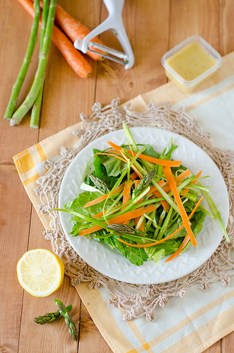 Shaved Asparagus and Carrot Salad