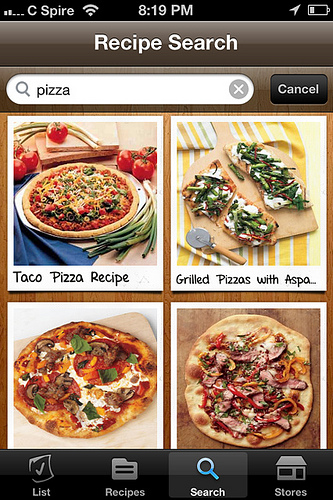 ziplist pizza search