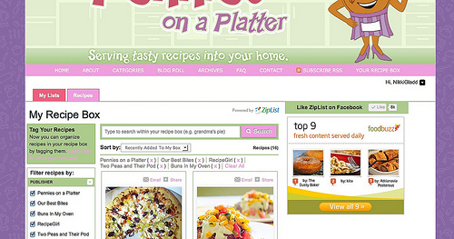 Ziplist Recipe Box Thumbnails