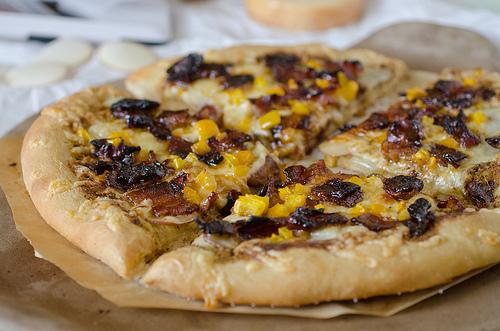 Potato Gouda and Candied Bacon Pizza 2