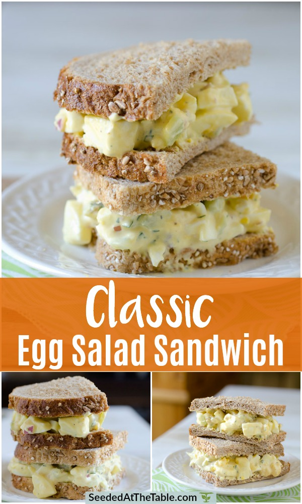 Collage for egg salad sandwich.