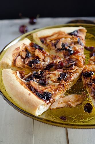 Cherry Barbecue Chicken Pizza 2
