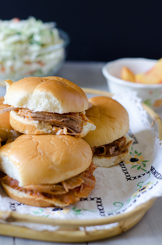Pulled Pork with Peach BBQ Sauce