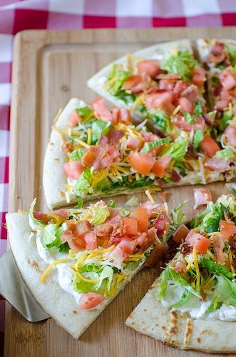 Cheesy BLT Pizza 2