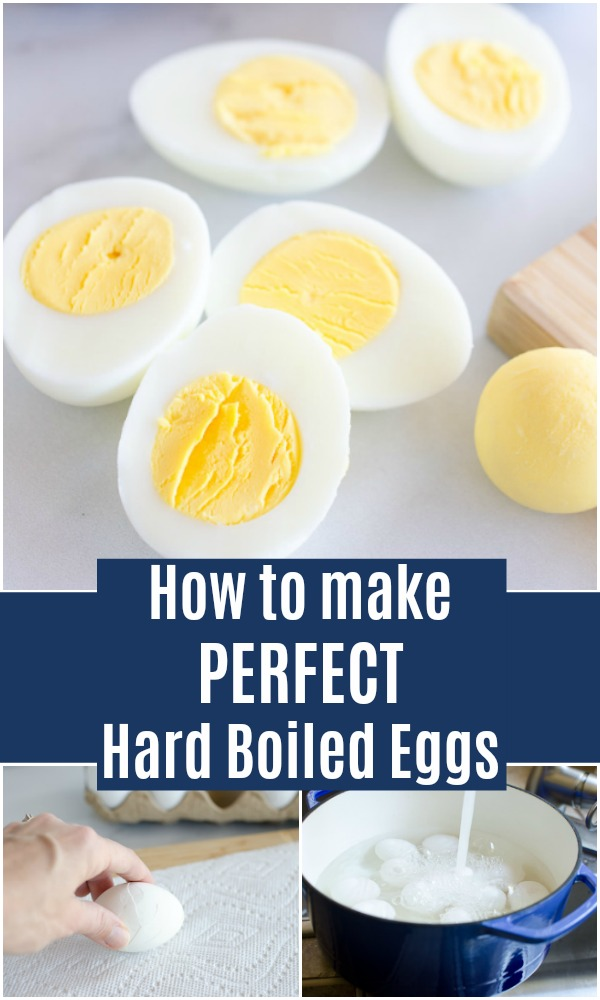 This is the best recipe for hard boiled eggs. These perfect hard boiled eggs create a beautiful yellow yolk with no green ring every time. We also include our easy tips for how to peel hard boiled eggs.