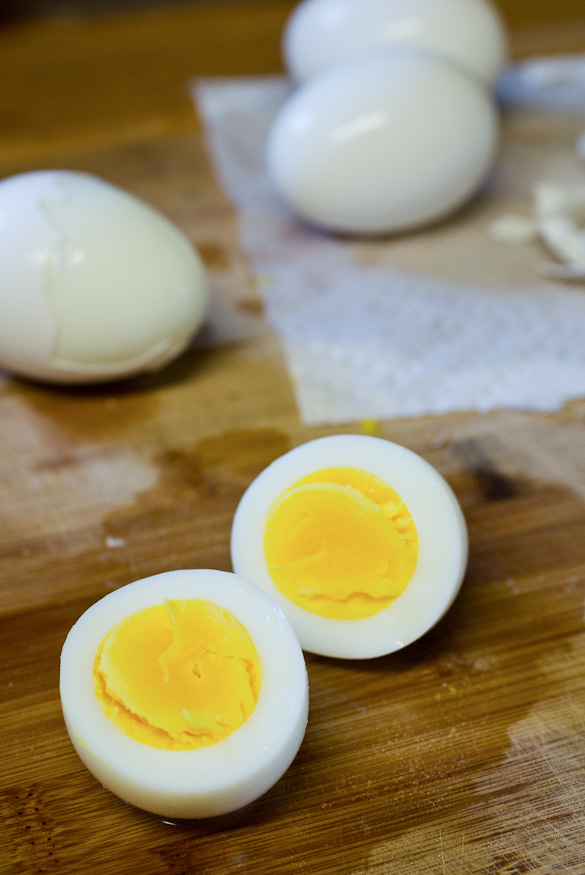 The best method for perfect hard-boiled eggs that are easy to peel.  These hard boiled eggs turn out a perfectly set yellow yolk and egg white.