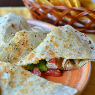 Tropical Chicken Quesadillas