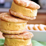 Snickerdoodle Pumpkin Ice Cream Sandwiches