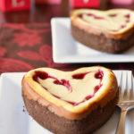 White Chocolate Raspberry Heart Cheesecake