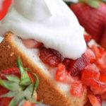 Strawberry Glazed Angel Food Cake