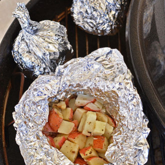 Foil Potato Packets on the Grill