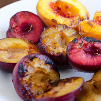 Grilled Peaches and Plums