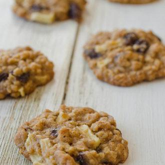 Apple Cinnamon Oatmeal Raisin Cookies