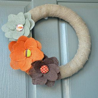 DIY Craft: Burlap Fall Wreath